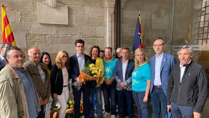 El Roser recupera el protagonisme en les ofrenes florals de la Diada a Lleida