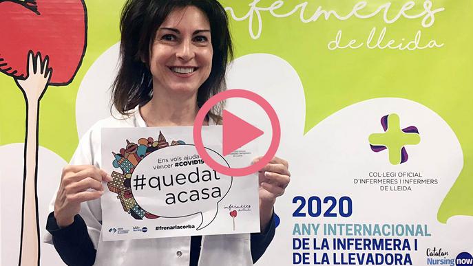 Les infermeres llancen una campanya de Salut per a la població confinada a Lleida