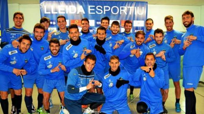 El Lleida Esportiu mostra la seua cara més solidària