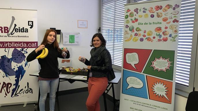 L'IRBLleida acull un programa pilot de l'AECC Lleida per promocionar el consum de fruita en l'àmbit laboral
