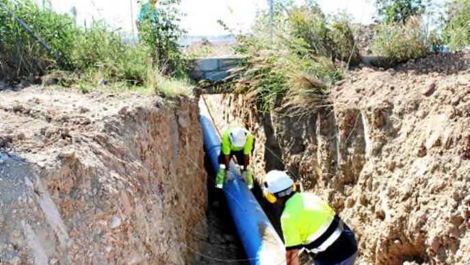 Tàrrega es connecta a la xarxa d'aigua del Segarra-Garrigues