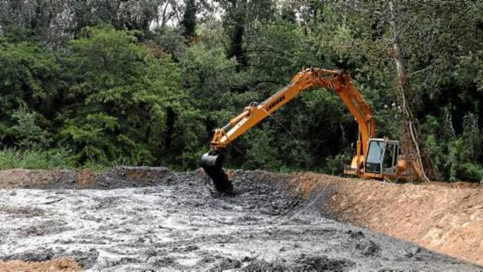 Sanejament del riu a Pardinyes