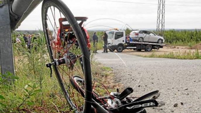 Moren dos ciclistes de Seròs al ser atropellats per un xòfer ebri a Soses