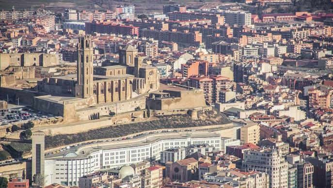 Imatge aèria de la ciutat de Lleida