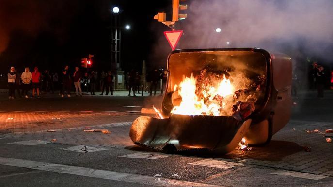 Més de 200 contenidors cremats intencionadament a Lleida el 2019