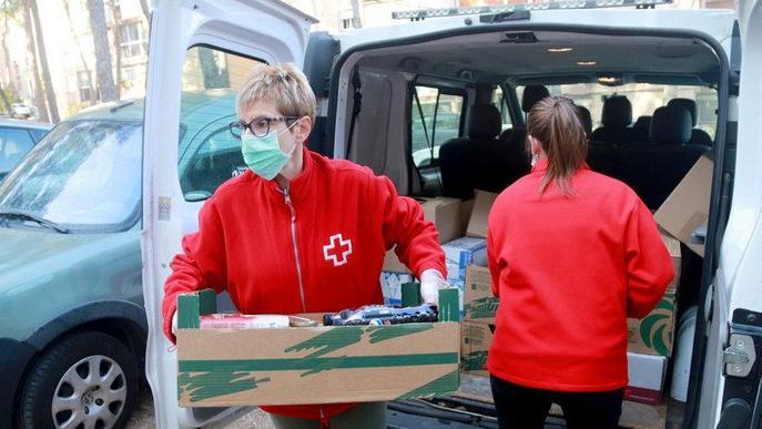 Creu Roja atén més de 6.000 persones afectades per la crisi de la covid-19 a Lleida