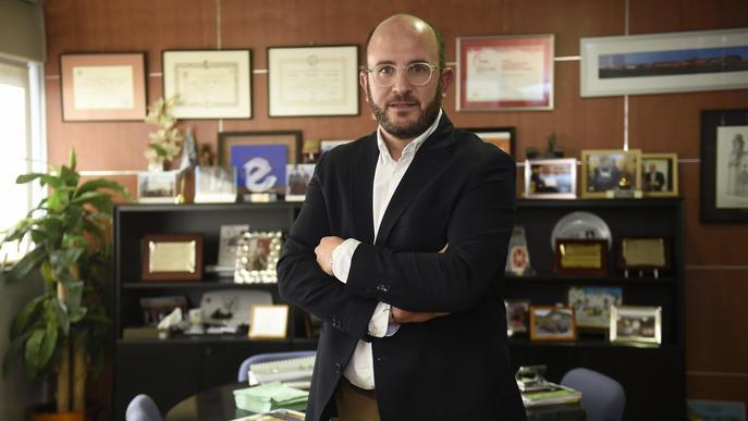 Marc Ceron, president de l'Associació Empresa Familiar de Lleida. FOTO: Santi Iglesias.