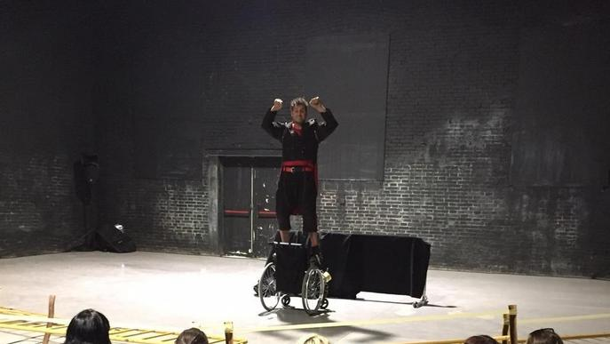 Assaig obert de l'artista lleidatà Ferran Orobitg a FiraTàrrega