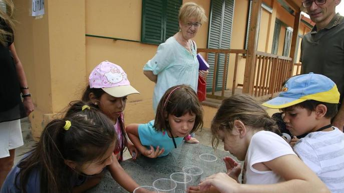 Els nens de l'Estiu de Joc visiten el Museu de l'Aigua