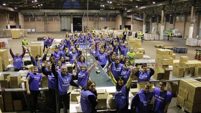 Crida del Banc d'Aliments de Lleida per captar 1.500 voluntaris per al Gran Recapte de desembre