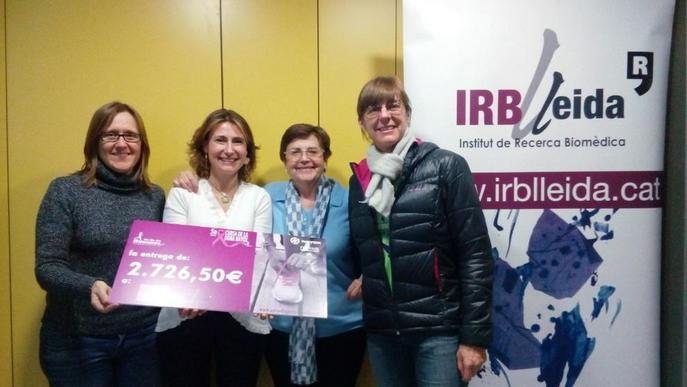 Més de 2.700 euros de la Cursa de la Dona Nayox per a l'IRBLleida