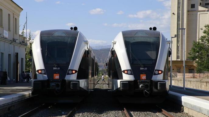 Ajusten els horaris del tren de la Pobla per garantir els enllaços amb l'AVE