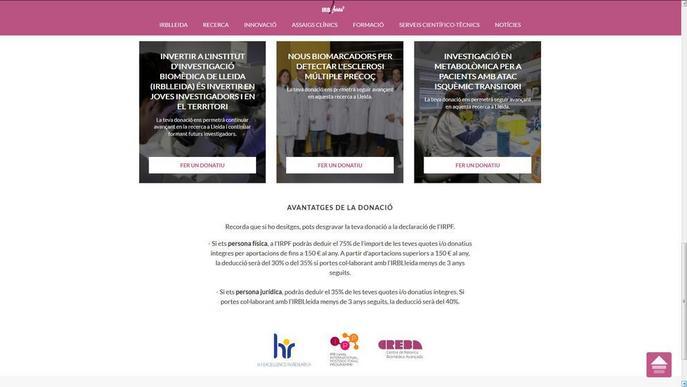 L'IRBLleida crea un canal de donacions via web i demana implicació d'empreses