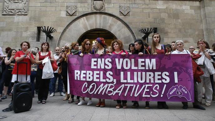 Concentració a Lleida contra la violència masclista