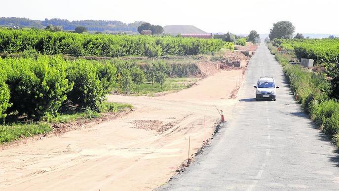 La carretera d'Alfarràs a Almacelles, tallada sis mesos per obres