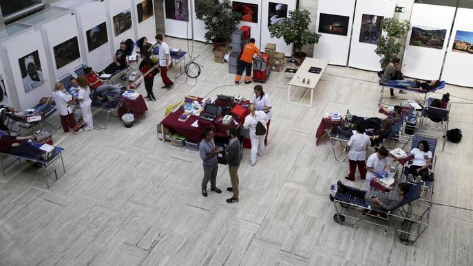 La Marató de Donants de Sang de Lleida assoleix els 400 participants