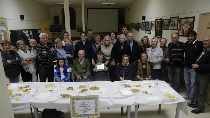 Homenatge al 'padrí' de Puigverd, de 105 anys
