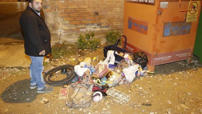 Escombraries a Alfarràs, que avui inicia el porta a porta