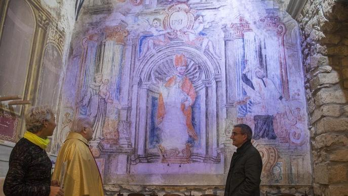 Butsènit d'Urgell estrena la restauració de les primeres pintures barroques