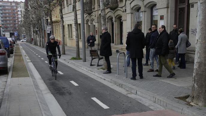Finalitzat el nou tram de carril bici que enllaça Ricard Viñes amb Cappont