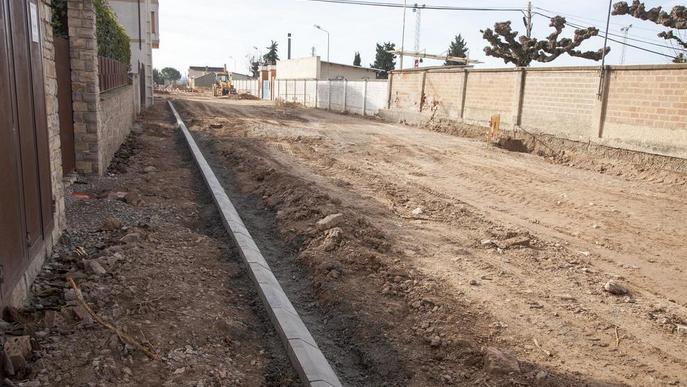 Castellserà acabarà la reforma de l'avinguda de l'Esport abans de l'estiu