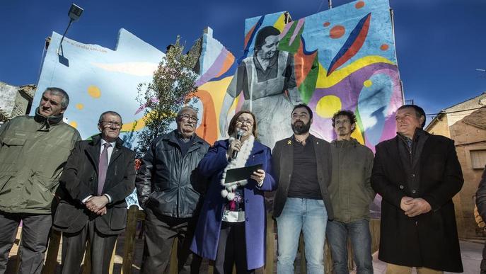 Sant Martí de Maldà inaugura la plaça dedicada a l'1 d'Octubre
