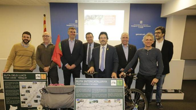 A punt el corredor de bici de Lleida a Cervera i en faran un altre a la Pobla