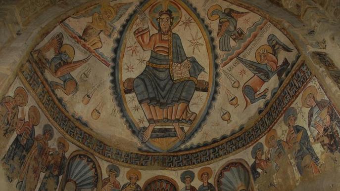 Castell de Mur recorda els seus frescos romànics a Boston