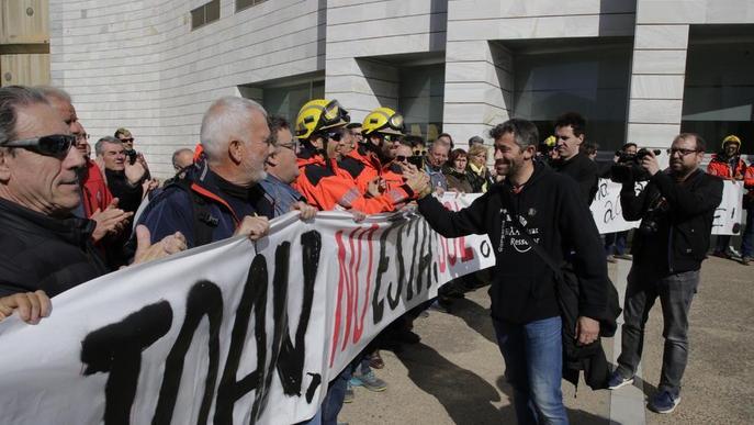 Suport al bomber ferit denunciat pels Mossos
