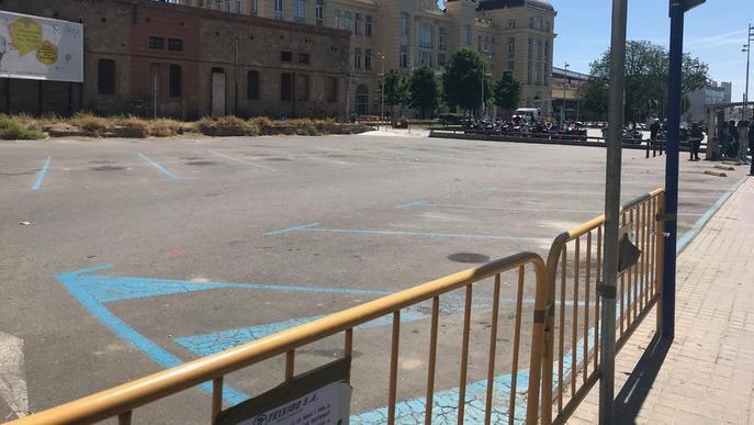 Queixes de taxistes frenen les obres de la seua nova parada a l'estació