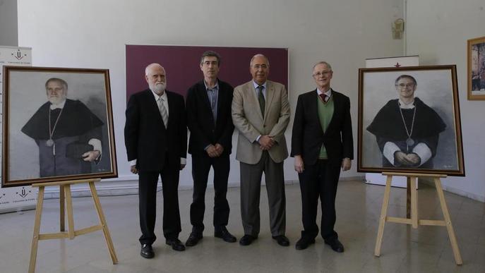 La UdL crea una galeria de retrats de rectors amb quadres de Porta i Viñas
