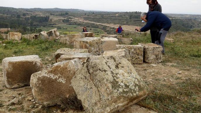 Les obres per reconstruir l'Arc d'Adà de Llardecans, aquest mes