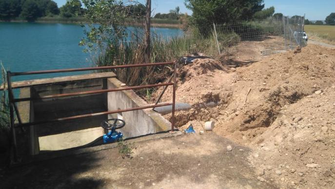 Almacelles construeix un 'bypass' per assegurar la qualitat de l'aigua