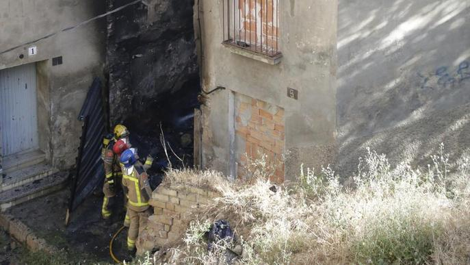 Un incendi calcina 16,4 hectàrees a l'Horta de Lleida