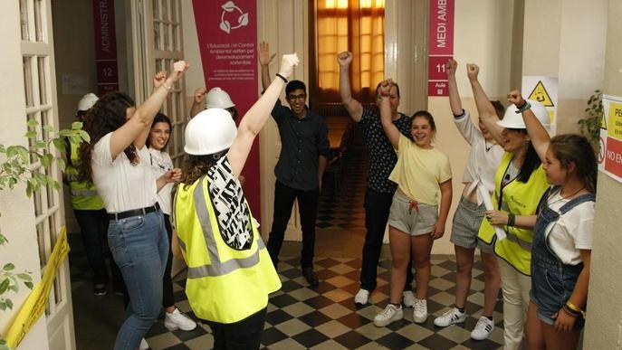 'Escape room' amb l'Escola del Treball d'escenari