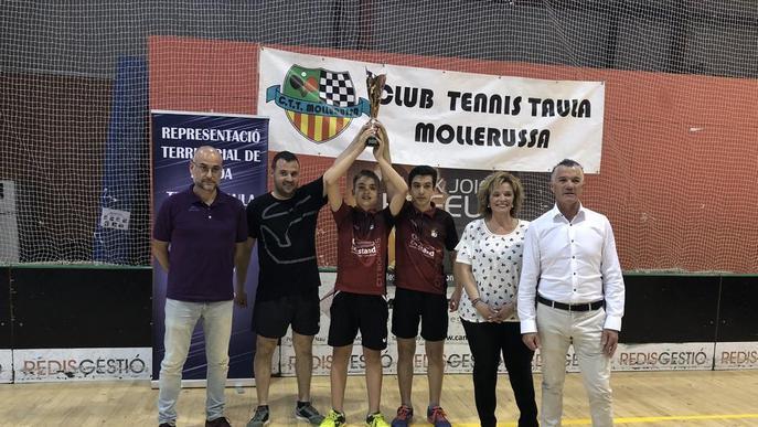 El CTT Borges, campió provincial per equips de tennis taula