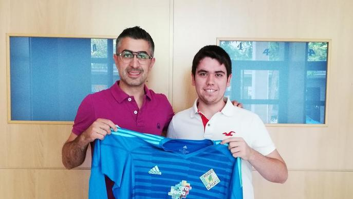 El porter Pol Besora, del Llista, tercer fitxatge del Lleida.Net Alpicat