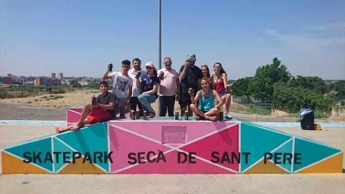 Joves donen una nova imatge a l'Skatepark del Secà de Sant Pere de Lleida