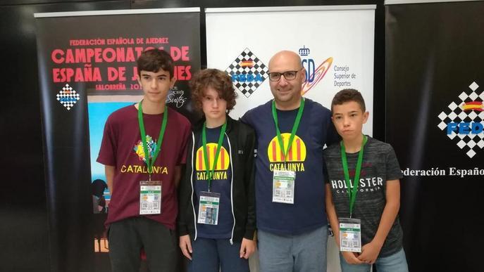 Josep Oms, tècnic de Catalunya a l'Estatal d'escacs