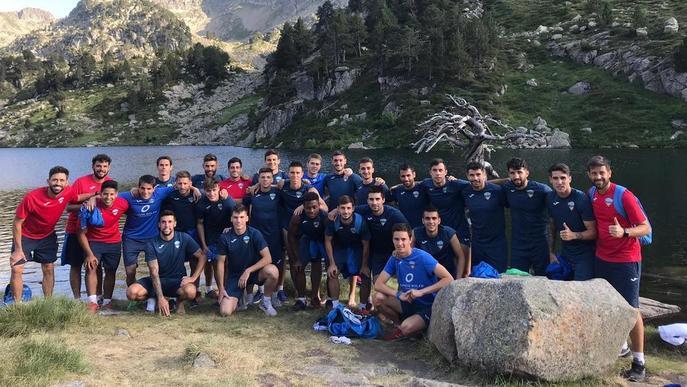 El Lleida canvia la pilota pel senderisme