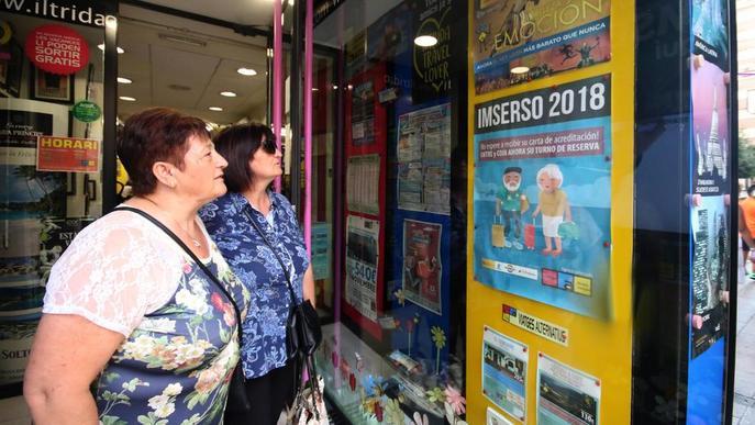 Un milió de jubilats, pendents de l'adjudicació dels viatges de l'Imserso