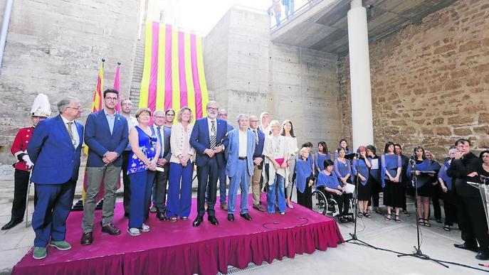 Acte institucional unitari per a la Diada de Paeria, Diputació i Govern a la Seu Vella