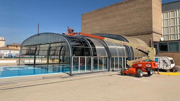 Balaguer inicia la reforma de la piscina coberta