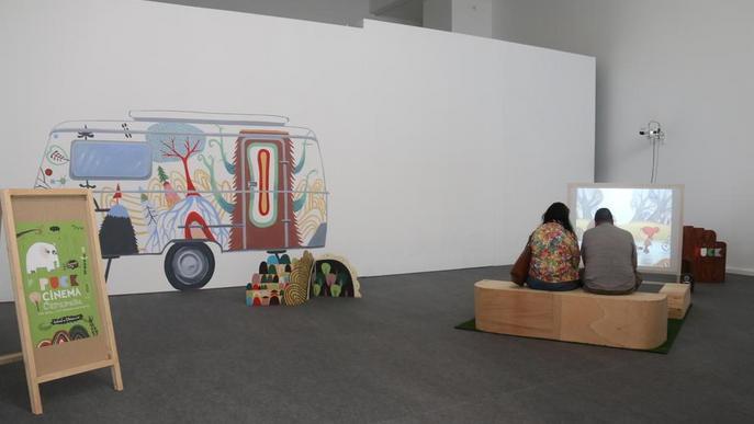 La caravana lleidatana de cine 'Puck', en una exposició a València