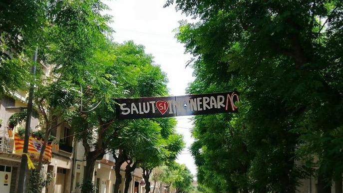 Protestes per impedir una pancarta contra Tracjusa de Juneda