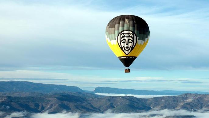 Vols en globus sobre el Geoparc de Tremp