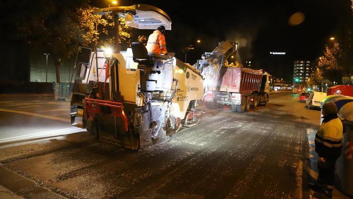 Primer gran tall nocturn per obres, que avui afectaran el pont Vell