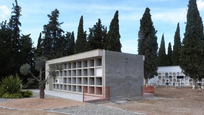 Les Borges amplia el cementiri amb 64 nínxols