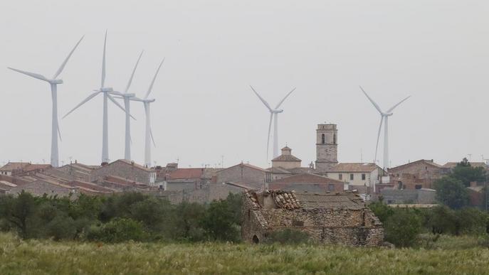 Els parcs eòlics paguen 1,4 milions d'euros a l'any als 8 municipis que els acullen a Lleida
