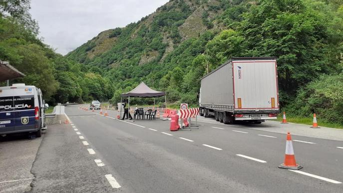 La frontera amb França al municipi de Les